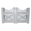 Boundary 4-ft x 8-ft White Picket Drive Vinyl Fence Gate
