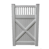 Boundary 6-ft x 3-ft White Privacy Walk Vinyl Fence Gate