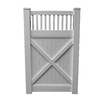 Boundary 6-ft x 5-ft White Privacy Walk Vinyl Fence Gate