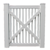 Boundary 4-ft x 3-ft White Picket Walk Vinyl Fence Gate