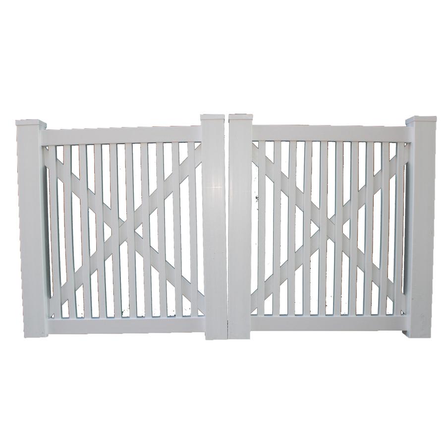 Shop boundary ft white picket drive vinyl fence