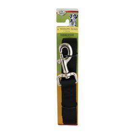 Four Paws Black Nylon Dog Leash