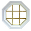 AWSCO 19-1/2-in x 19-1/2-in Raw White Pine Single Pane Fixed Octagon Window