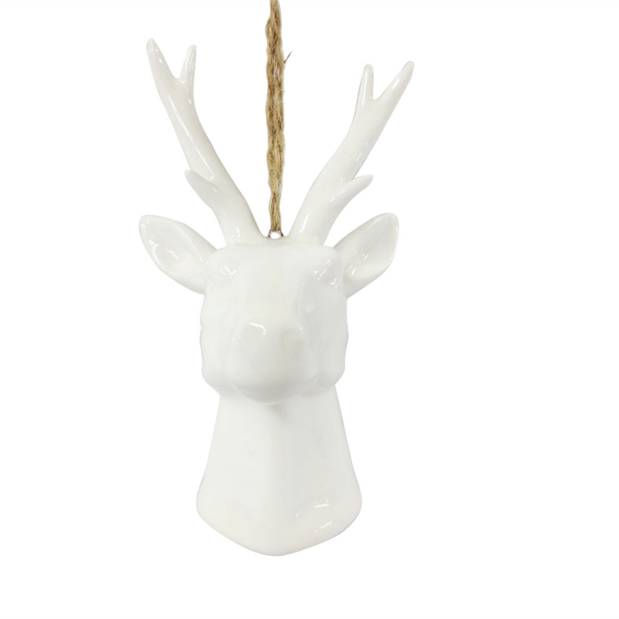 white porcelain deer head