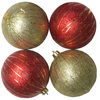 Holiday Living 4-Pack Multicolor Plastic Shatterproof Striped Ornaments