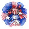 24-in Patriotic Polymesh Wreath-Hat