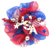 24-in Patriotic Polymesh Wreath-USA