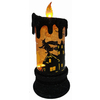 7.5-in Lighted Animatronic Tabletop LED Candle with Scenes Orange Indoor Halloween Decoration