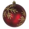 Holiday Living Dark Red with Light Gold Accented Ornament