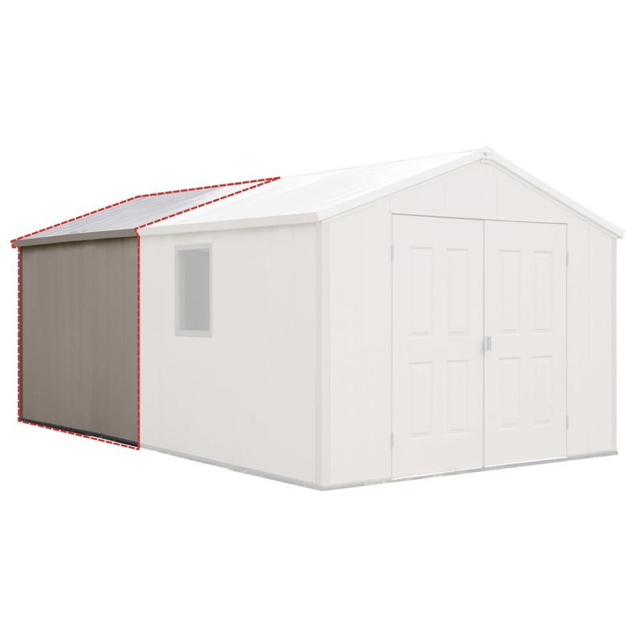 Shop royal outdoor products 7ft asheville storage building for Lowe s home building kits