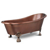 SINKOLOGY Antique Copper Copper Oval Clawfoot Bathtub with Front Center Drain (Common: 33-in x 69-in; Actual: 30.5-in x 32-in x 67.5-in)