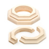 Pole-Wrap Maple Cap & Base Set 3 in. (Fits 3 in. Basement Pole)