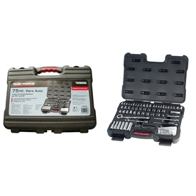 Task Force 75-Piece Standard (Sae) Mechanic's Tool Set with Case Case Included
