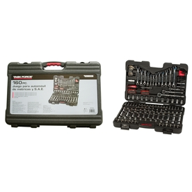 Task Force Standard (SAE) and Metric Combination Mechanic's Tool Set (160-Piece)