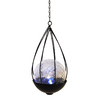 21.875-in H Black Glass Outdoor Decorative Lantern