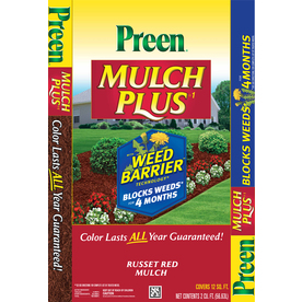 Preen 2-cu ft Red Shredded Mulch