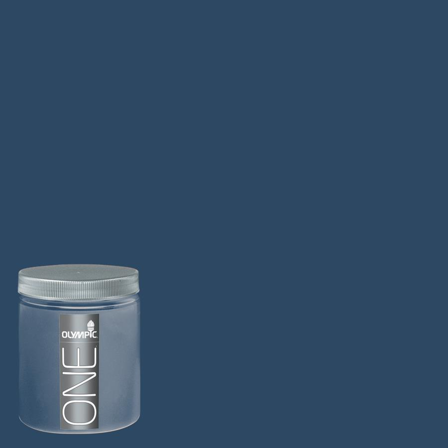 Olympic 8 Oz Admiral Blue Interior Satin Paint Sample At