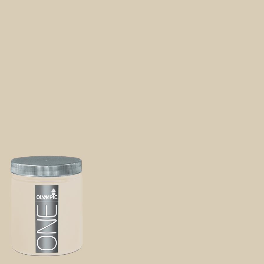 Shop Olympic 8 Oz Toasted Almond Interior Satin Paint Sample At