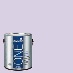 Olympic ONE Lightly Lilac Flat Latex Interior Paint and Primer In One (Actual Net Contents: 124-fl oz)