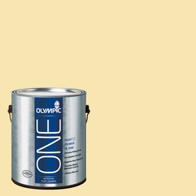Olympic ONE Sunbeam Flat Latex Interior Paint and Primer In One (Actual Net Contents: 124-fl oz)