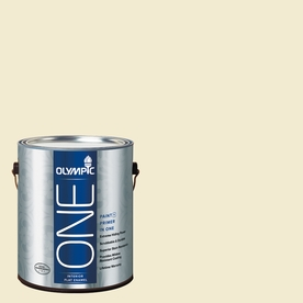 Olympic ONE Moonshine Flat Latex Interior Paint and Primer In One (Actual Net Contents: 124-fl oz)