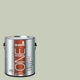 Olympic ONE Frosty Pine Flat Latex Interior Paint and Primer In One (Actual Net Contents: 124-fl oz)