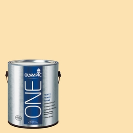 Olympic ONE Flax Flat Latex Interior Paint and Primer In One (Actual Net Contents: 124-fl oz)