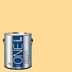 Olympic ONE Golden Slumber Flat Latex Interior Paint and Primer In One (Actual Net Contents: 124-fl oz)