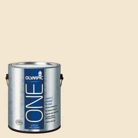 Olympic ONE Vanilla Wafer Flat Latex Interior Paint and Primer In One (Actual Net Contents: 124-fl oz)