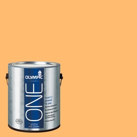 Olympic ONE Japanese Koi Flat Latex Interior Paint and Primer In One (Actual Net Contents: 116-fl oz)