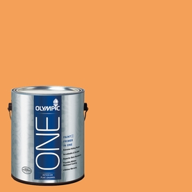 Olympic ONE Mandarin Flat Latex Interior Paint and Primer In One (Actual Net Contents: 114-fl oz)