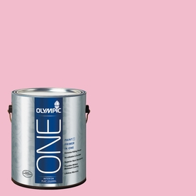 Olympic ONE Pink Persuasion Flat Latex Interior Paint and Primer In One (Actual Net Contents: 124-fl oz)