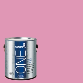 Olympic ONE Muted Fuchsia Flat Latex Interior Paint and Primer In One (Actual Net Contents: 116-fl oz)