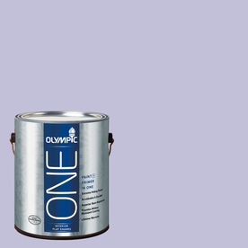 Olympic ONE Purplicious Flat Latex Interior Paint and Primer In One (Actual Net Contents: 124-fl oz)