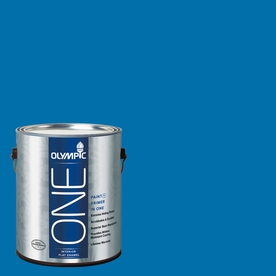 Olympic ONE Cobalt Blue Flat Latex Interior Paint and Primer In One (Actual Net Contents: 114-fl oz)