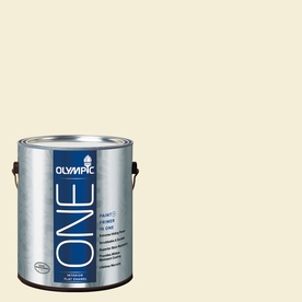 Olympic ONE Lotus Flower Flat Latex Interior Paint and Primer In One (Actual Net Contents: 124-fl oz)