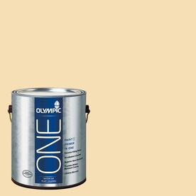 Olympic ONE Cornmeal Flat Latex Interior Paint and Primer In One (Actual Net Contents: 124-fl oz)