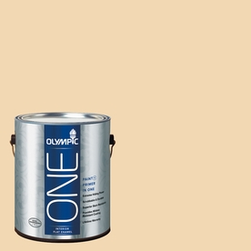 Olympic ONE Belgian Waffle Flat Latex Interior Paint and Primer In One (Actual Net Contents: 124-fl oz)