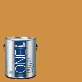 Olympic ONE Mayan Treasure Flat Latex Interior Paint and Primer In One (Actual Net Contents: 114-fl oz)
