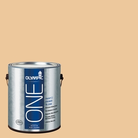 Olympic ONE Toffee Crunch Flat Latex Interior Paint and Primer In One (Actual Net Contents: 124-fl oz)