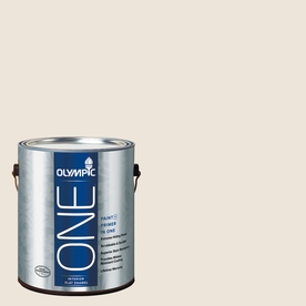 Olympic ONE Percale Flat Latex Interior Paint and Primer In One (Actual Net Contents: 124-fl oz)