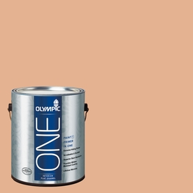 Olympic ONE Gentle Doe Flat Latex Interior Paint and Primer In One (Actual Net Contents: 124-fl oz)