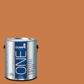Olympic ONE Gingerbread Flat Latex Interior Paint and Primer In One (Actual Net Contents: 114-fl oz)