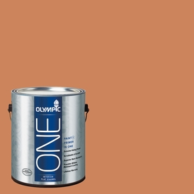 Olympic ONE Georgian Leather Flat Latex Interior Paint and Primer In One (Actual Net Contents: 114-fl oz)