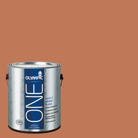 Olympic ONE Brown Clay Flat Latex Interior Paint and Primer In One (Actual Net Contents: 114-fl oz)