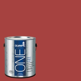 Olympic ONE Rum Runner Flat Latex Interior Paint and Primer In One (Actual Net Contents: 114-fl oz)