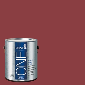 Olympic ONE Gallon Interior Flat Enamel Apple-A-Day Paint and Primer In One B35-6-APPLE-A-356798