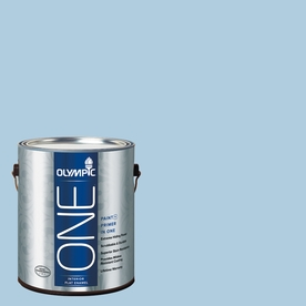 Olympic ONE Serenity Flat Latex Interior Paint and Primer In One (Actual Net Contents: 124-fl oz)