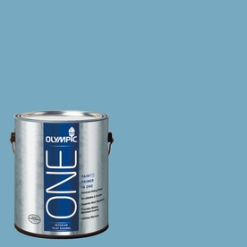 Olympic ONE Serene Sea Flat Latex Interior Paint and Primer In One (Actual Net Contents: 116-fl oz)