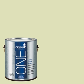 Olympic ONE Aloe Vera Flat Latex Interior Paint and Primer In One (Actual Net Contents: 124-fl oz)